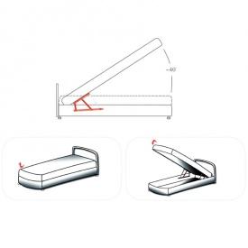 Подъемный механизм с блокировкой для кровати