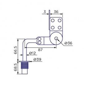 Механизм подголовника 10011-1