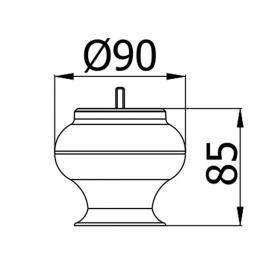 Мебельная ножка CA-102-08