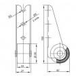 Ролик мебельный торцевой 3502-R